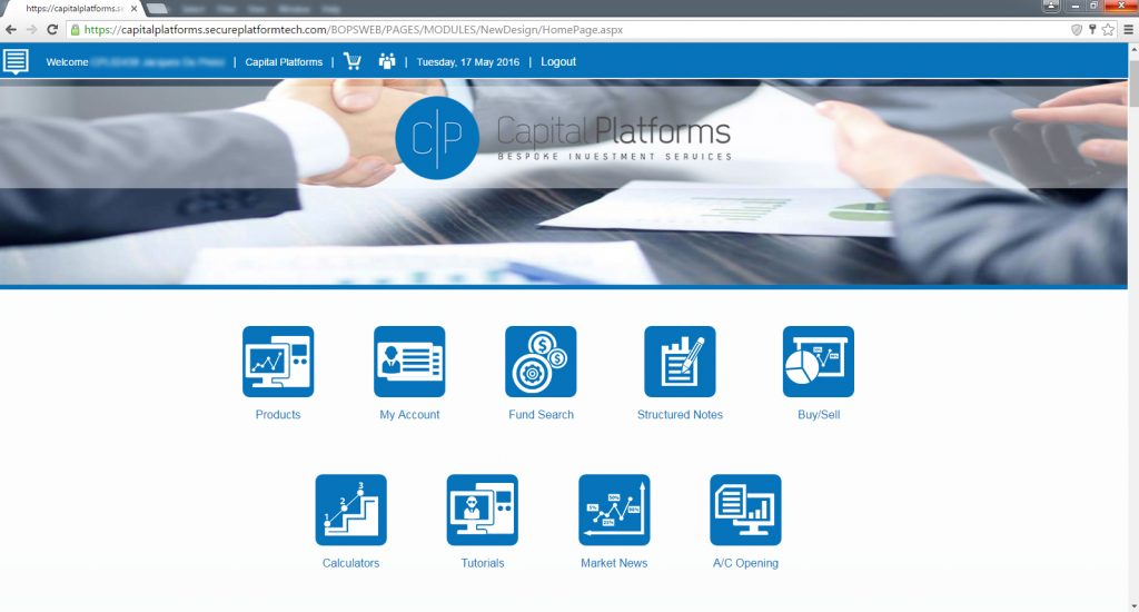 Platform Main Page