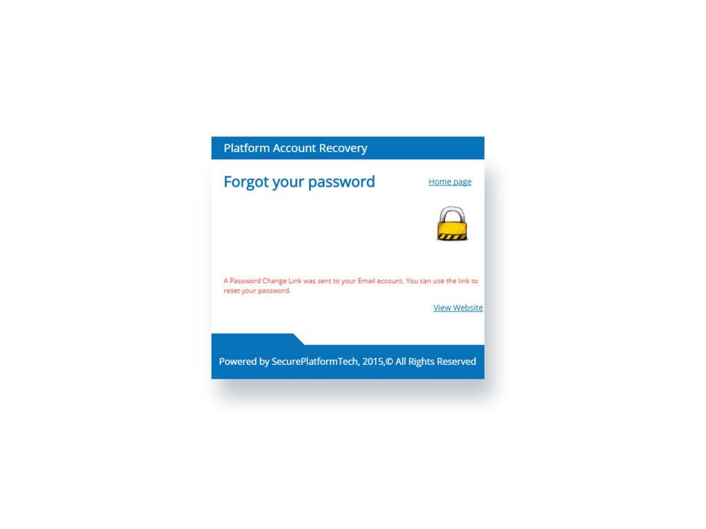 Password Reset mail has been sent